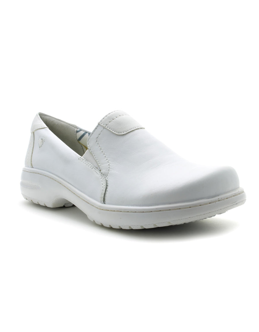 Nurse Mates Women's Meredith Shoe in White (Wide) Flats Nursemates