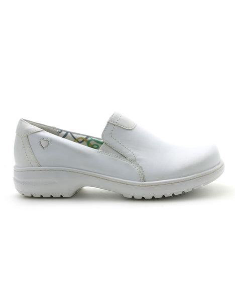 Nurse Mates Women's Meredith Shoe in White (Wide) Flats Nursemates 6