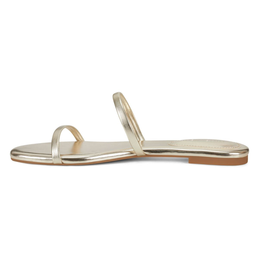 Nine West Women's Blaise3 in Gold Sandals NINE WEST