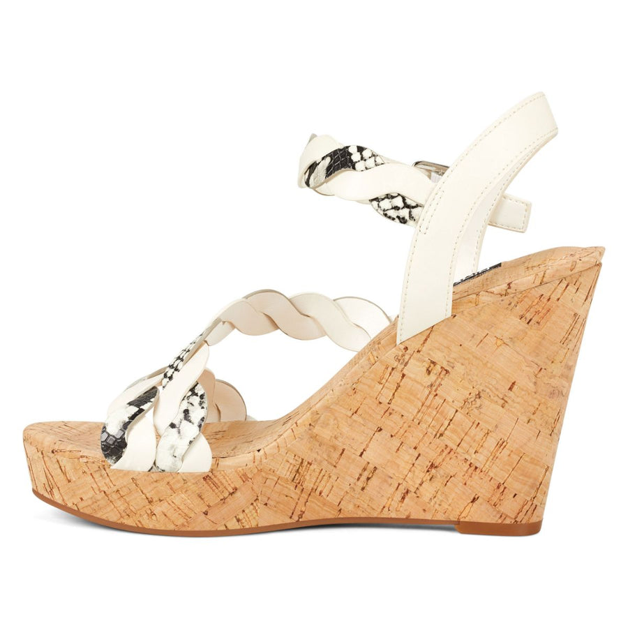 Nine West Women's Brette3 in Taupe Multi Sandals NINE WEST