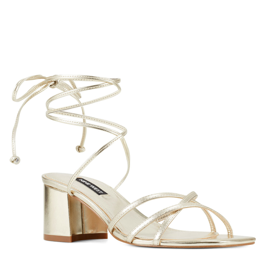 Nine West Women's Meli3 in Gold Sandals NINE WEST