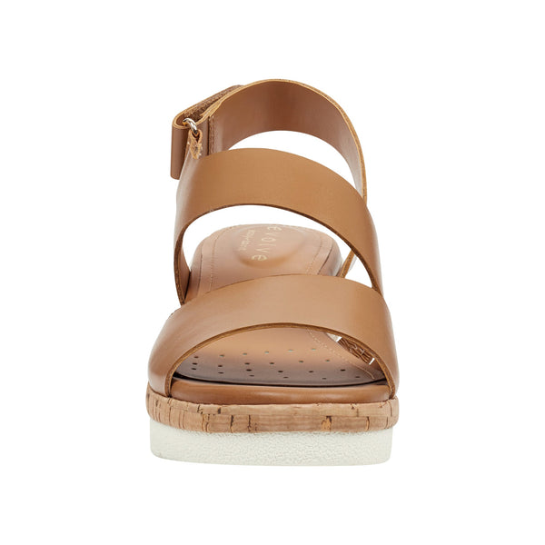 Easy Spirit Women's Kea Platform Sandals in Almond Sandals Easy Spirit