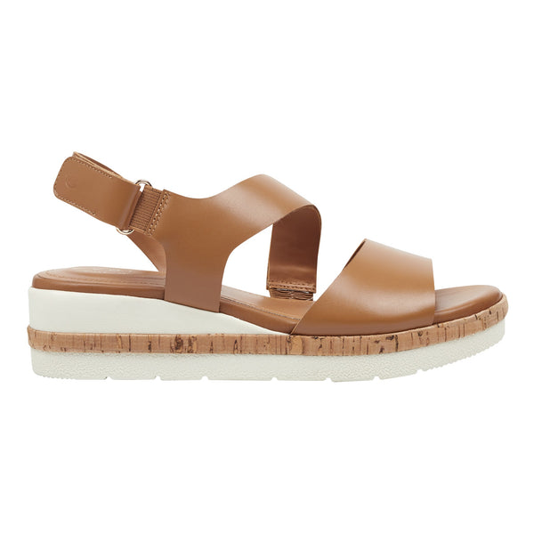 Easy Spirit Women's Kea Platform Sandals in Almond Sandals Easy Spirit 5