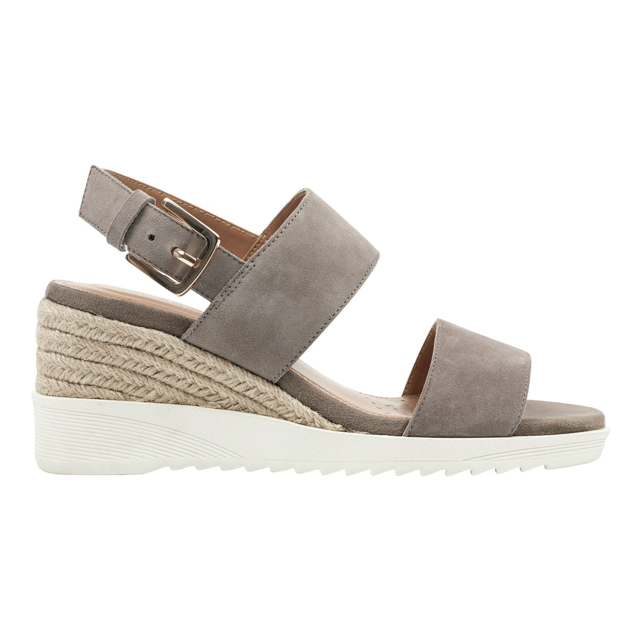 Easy Spirit Women's Zen Platform Wedge Sandals in Taupe Heels Easy Spirit 5