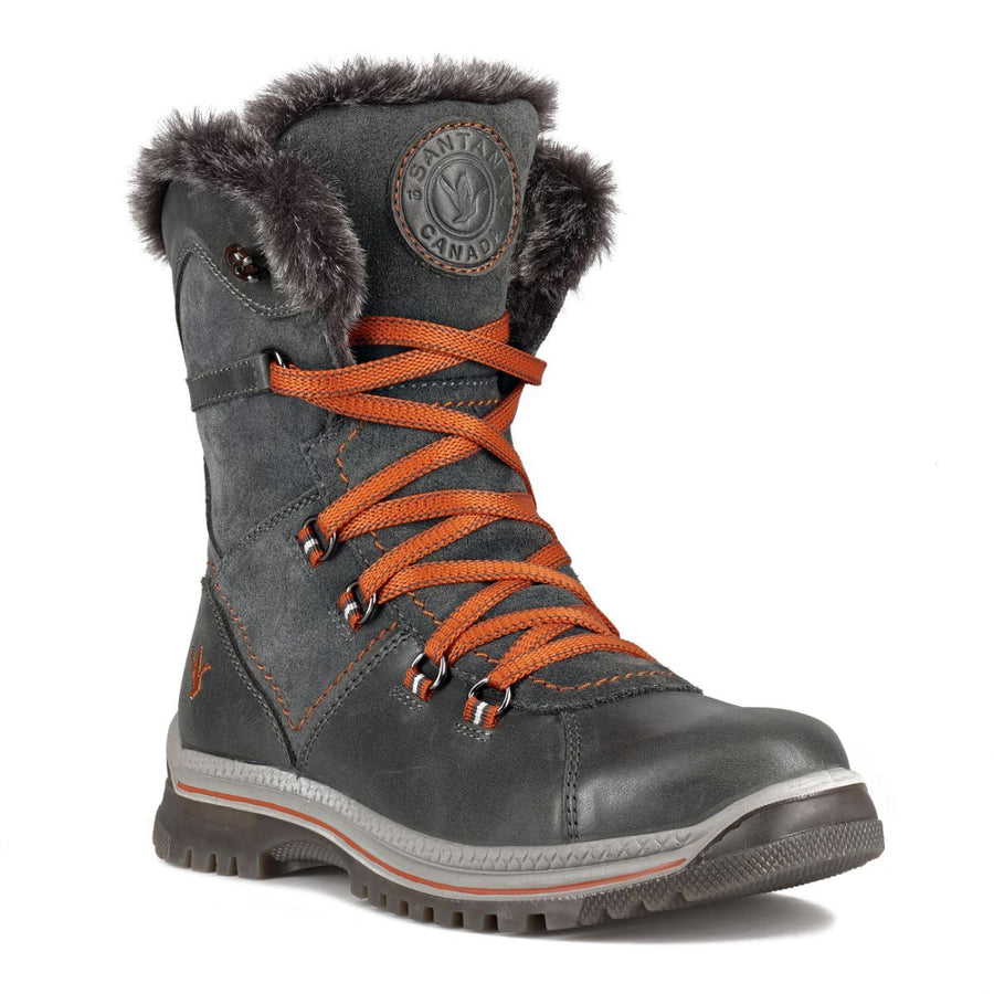 Santana Canada Women's MajestaLuxe Winter Boots in Grey Rust Winter Boots Santana Canada