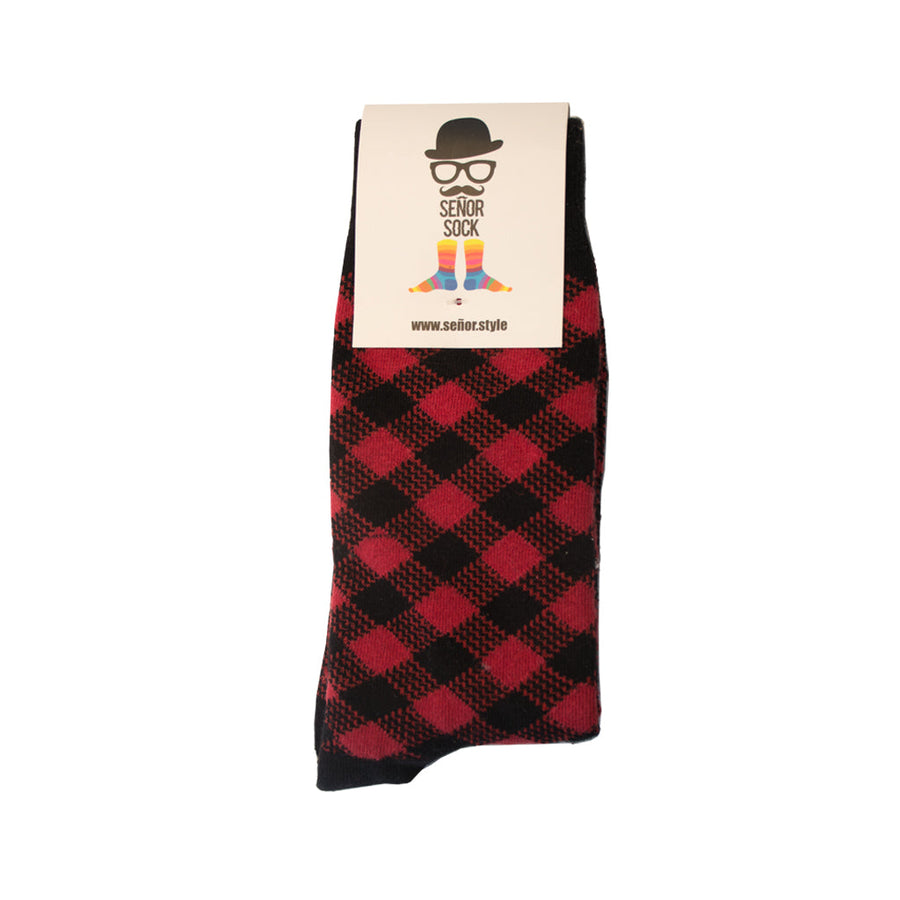 Señor Sock The Buffalo Check Men's Socks SENOR SOCKS OS