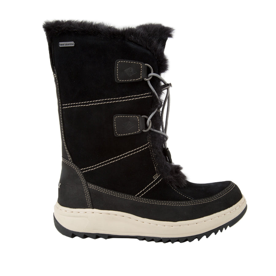 Sperry Women's Powder Valley Vibram Arctic Grip Boot W/ Thinsulate in Black Boots Sperry 6