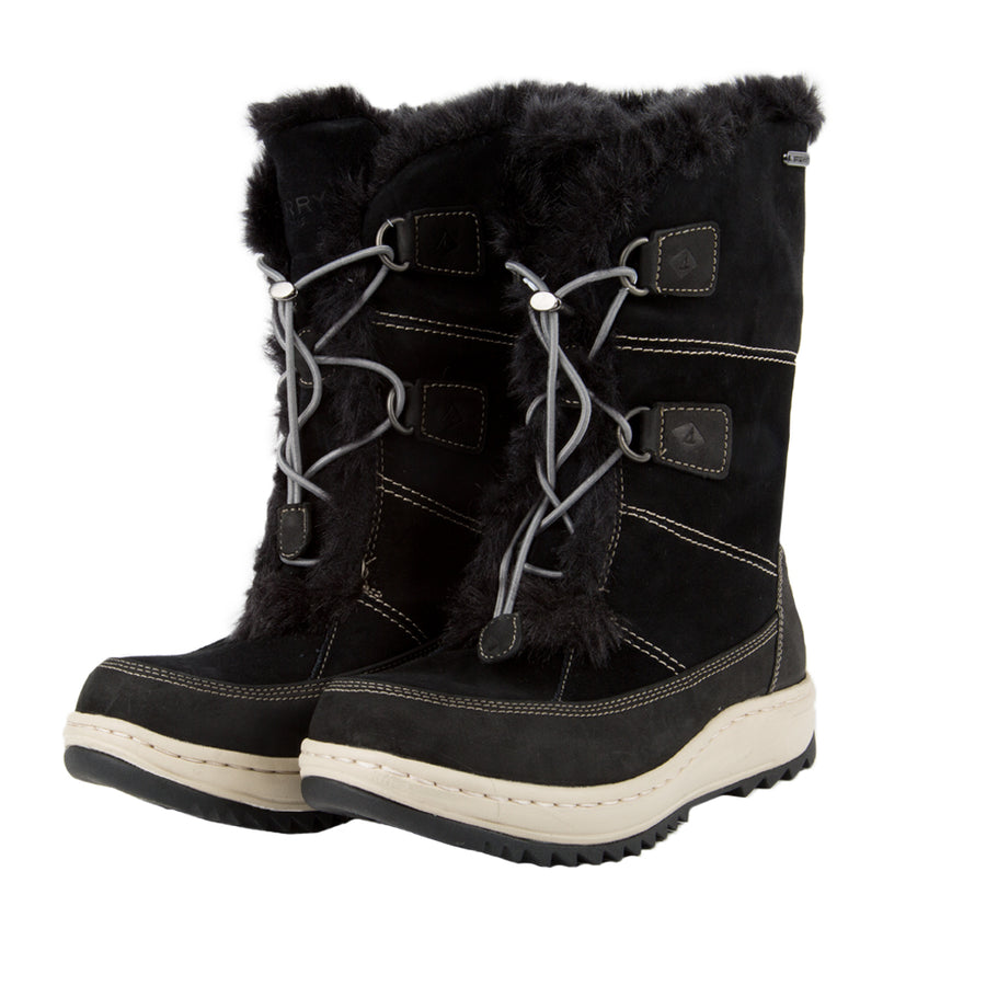 Sperry Women's Powder Valley Vibram Arctic Grip Boot W/ Thinsulate in Black Boots Sperry