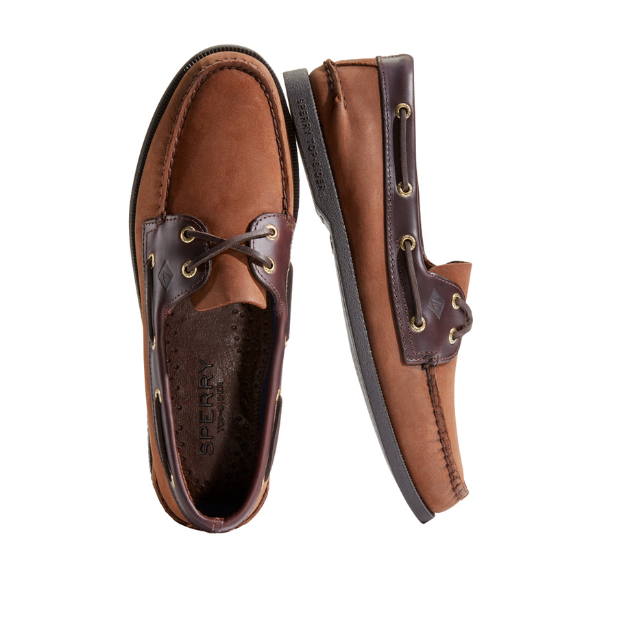 Sperry Men's A/O 2-Eye Boat Shoe in Brown Men's Casual Shoes Sperry
