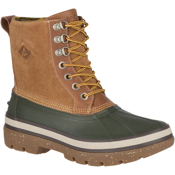 Sperry Men's Ice Bay Boot Winter Boot in Olive/Tan Men's Winter Boots Sperry