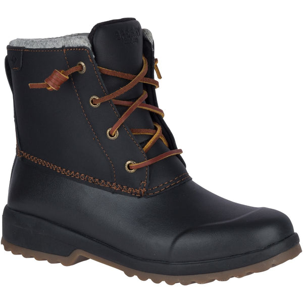 Sperry Women's Maritime Repel in Black Boots Sperry