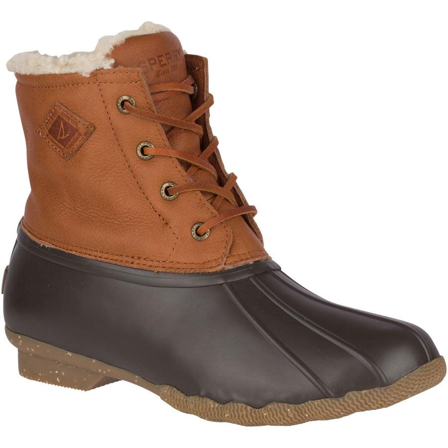 Sperry Women's Saltwater Winter Luxe in Tan Rain Boots Sperry