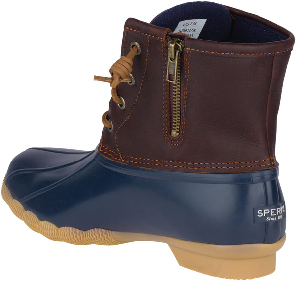 Sperry Women's Saltwater Winter Boot in Tan/Navy Winter Boots Sperry