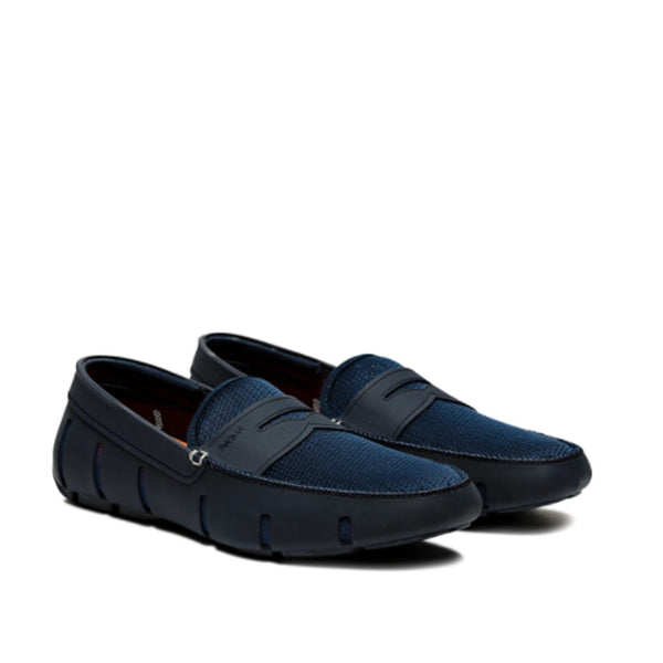 Swims Men's Penny Loafer in Navy Casual SWIMS