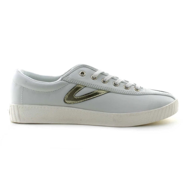 Tretorn Women's Nylite 2 Shoe in White and Gold Sneakers Tretorn 5