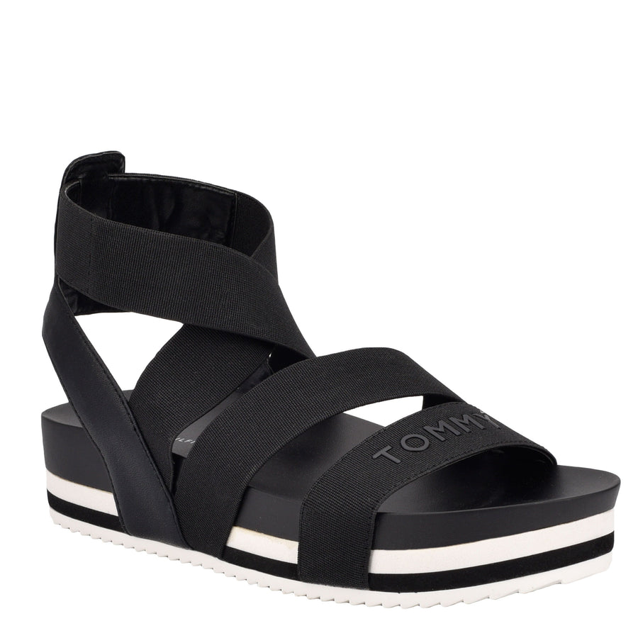 Tommy Women's Belgin in Black Sandals TOMMY WOMEN