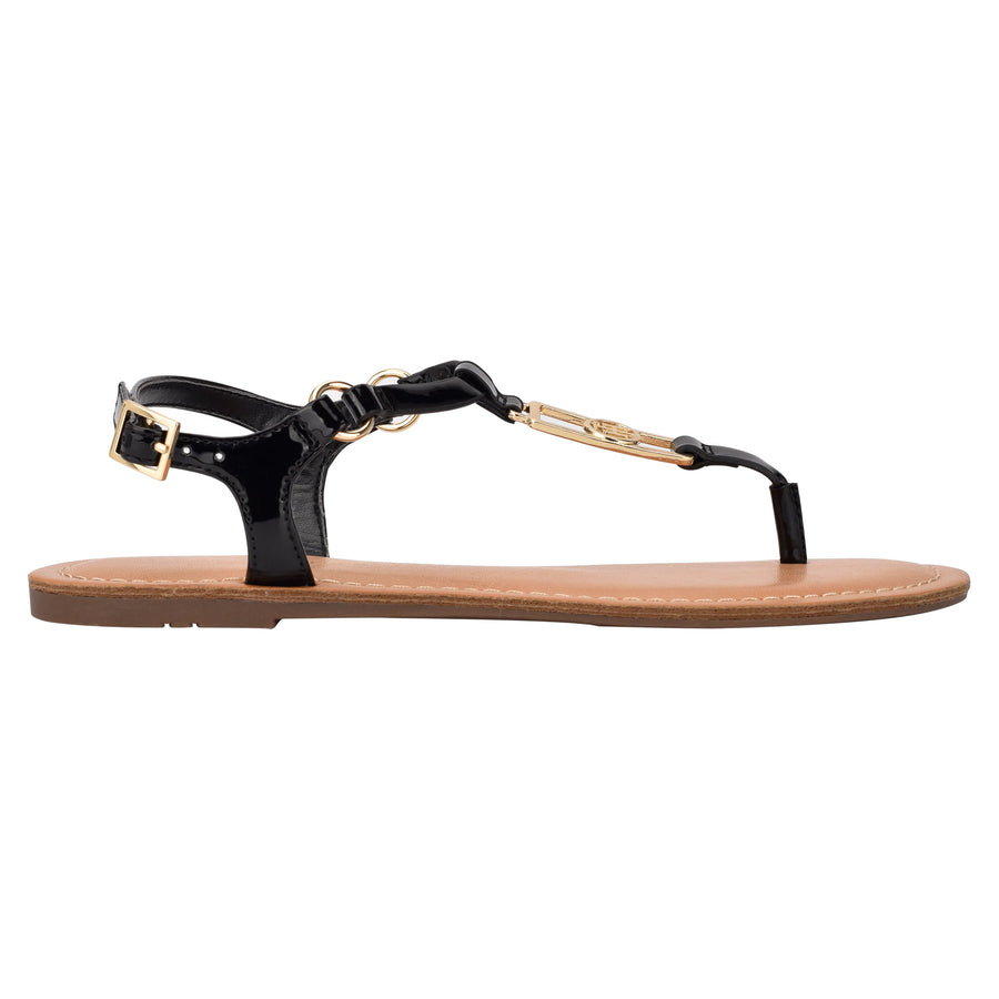 Tommy Women's Landen in Black Sandals TOMMY WOMEN 8.5