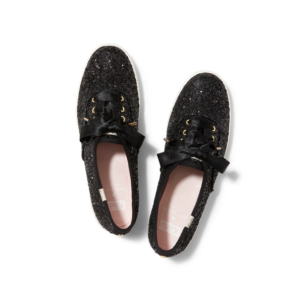 Keds Women's Champion Glitter Kate Spade Sneakers in Black Sneakers Keds