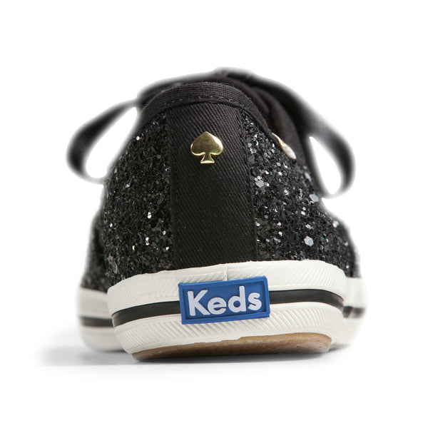 Keds Women's Champion Glitter Kate Spade Sneakers in Black
