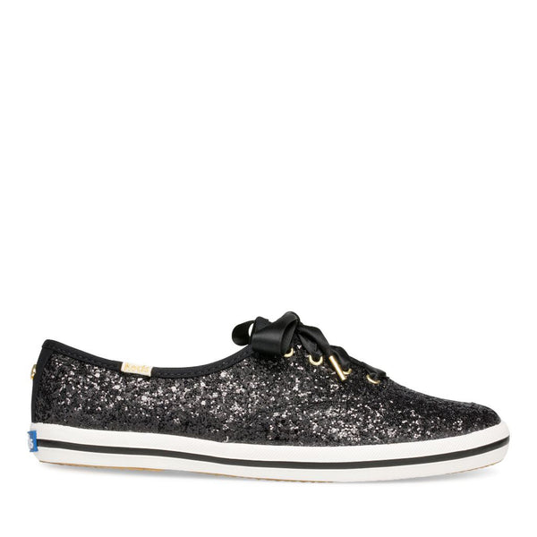Keds Women's Champion Glitter Kate Spade Sneakers in Black Sneakers Keds 5