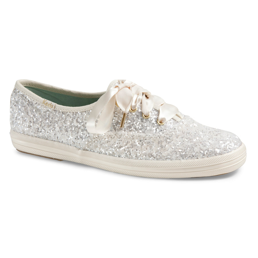 Keds Women's Champion Glitter Kate Spade Sneakers in Cream Sneakers Keds