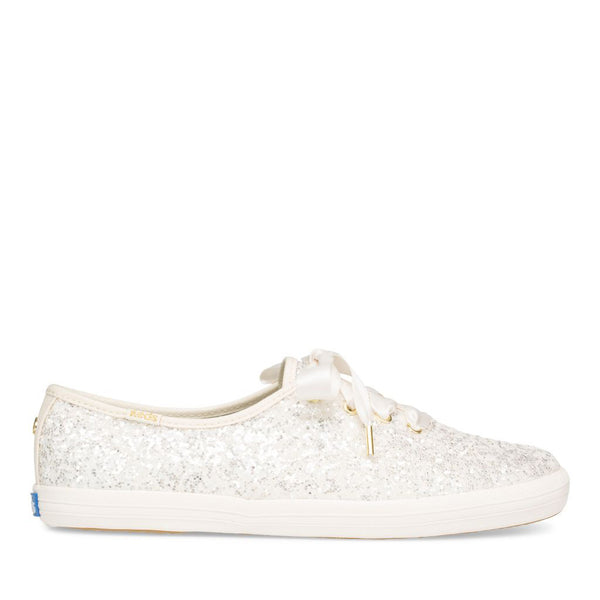 Keds Women's Champion Glitter Kate Spade Sneakers in Cream Sneakers Keds 5