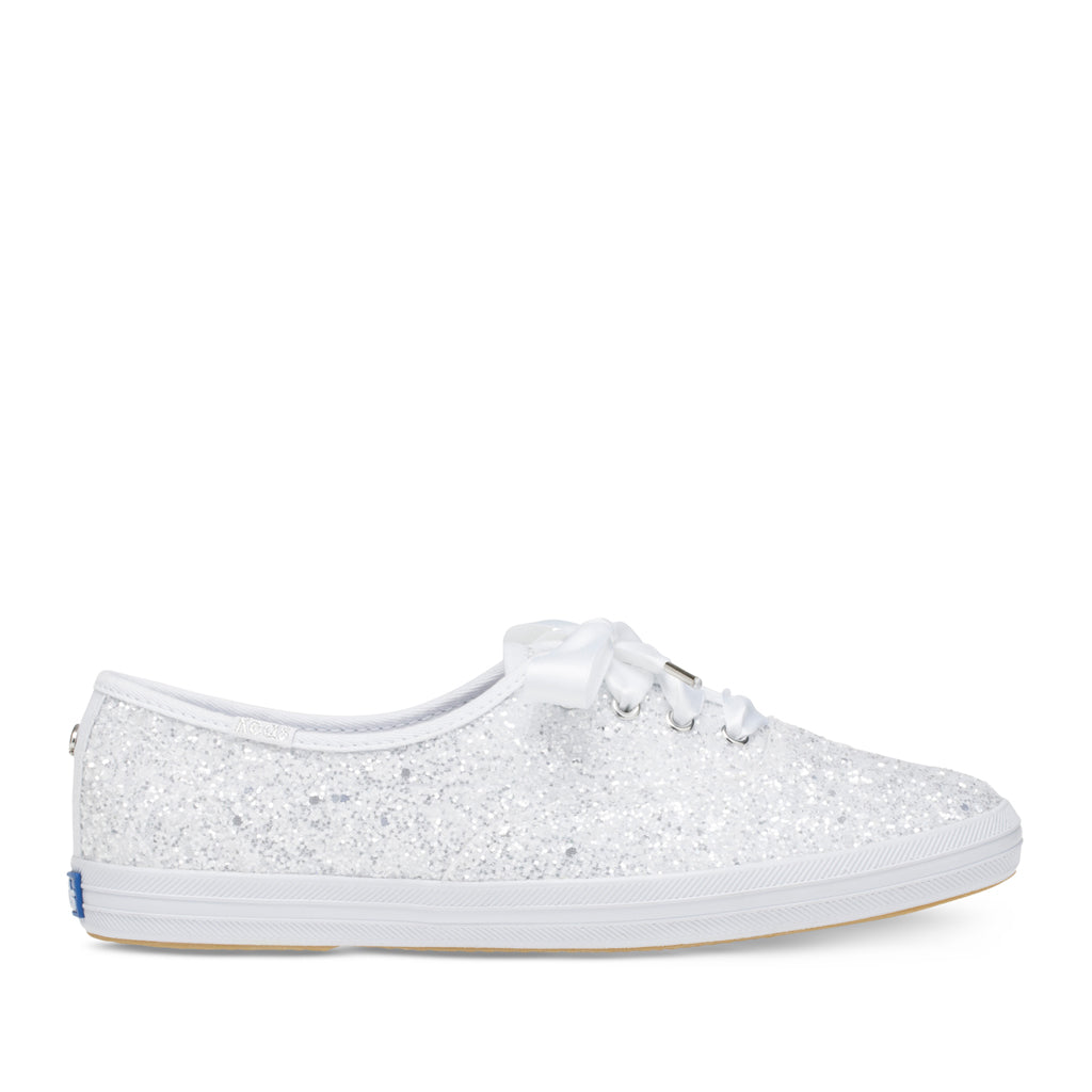 15d8a34904c1 Keds Women s Champion Glitter Kate Spade Sneakers in White – heelboy