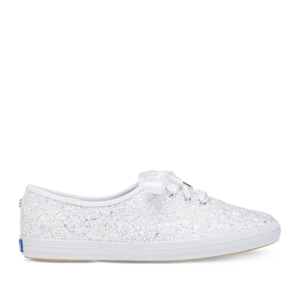 Keds Women's Champion Glitter Kate Spade Sneakers in White