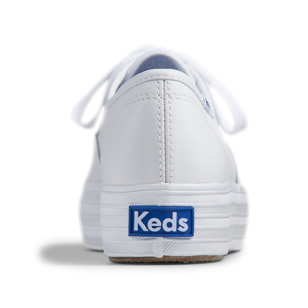 Keds Women's Triple Leather Sneakers in White Sneakers Keds