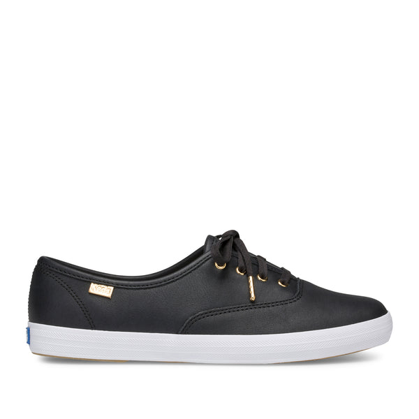 Keds Women's Champion Luxe Leather Ii in Black Sneakers Keds 5