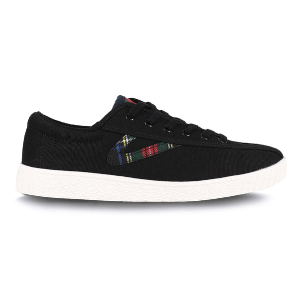 Tretorn Women's Nylite 28 Plus Sneakers in Black Tartan Sneakers Tretorn 5