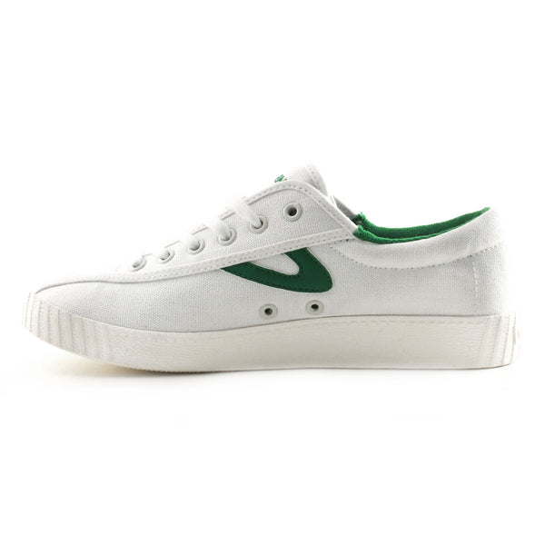 Tretorn Women's Nylite Plus Shoe in White and Green Sneakers Tretorn