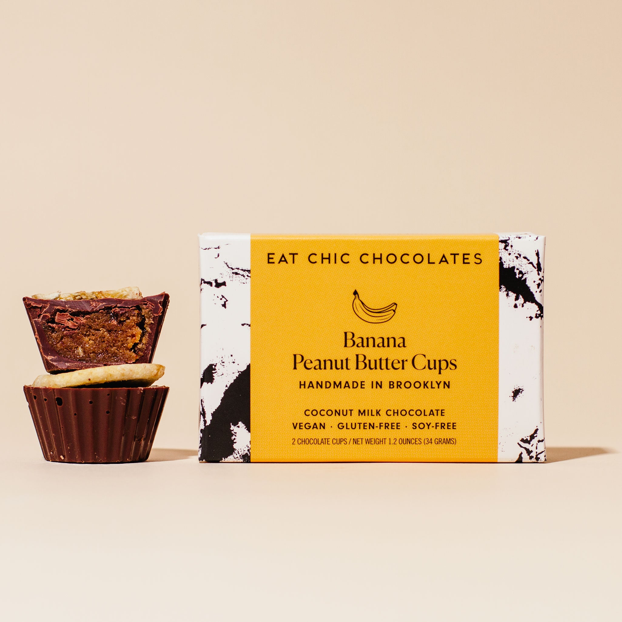 Coconut Milk Chocolate Banana Peanut Butter Cups - Box of Four