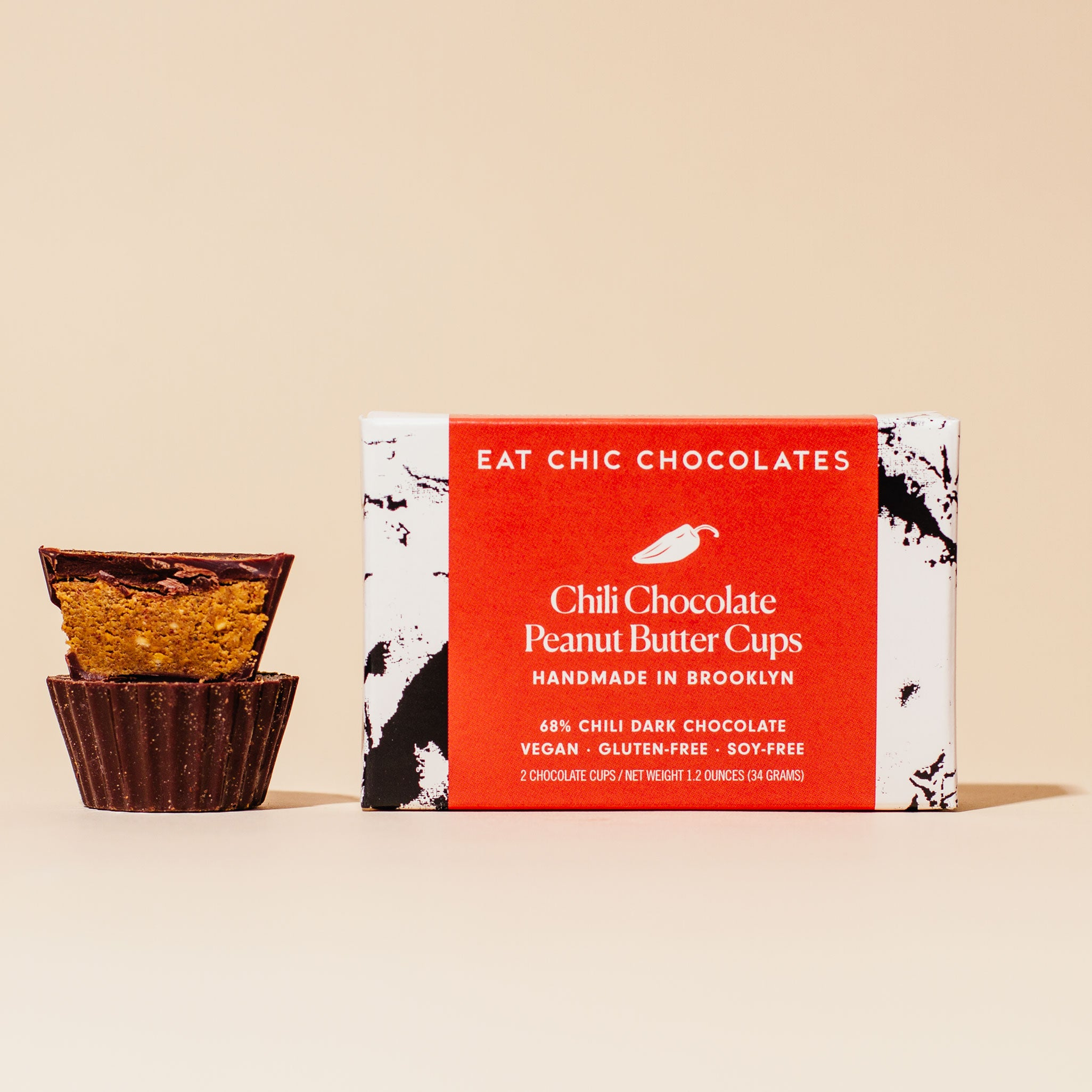 Chili Chocolate Peanut Butter Cups - Box of Two