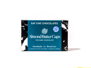 Dark Chocolate Almond Butter Cups - Box of Four