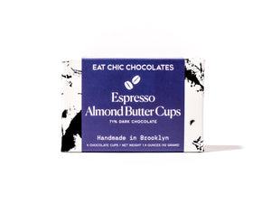 Dark Chocolate Espresso Almond Butter Cups - Box of Four