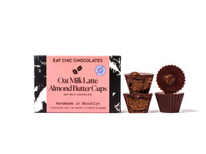 Oat Milk Chocolate Latte Almond Butter Cups (Refined Sugar Free) - Box of Four