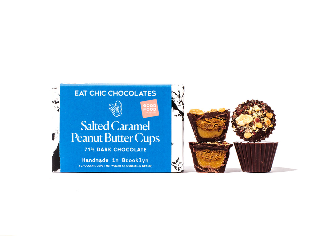 Dark Chocolate Salted Caramel Peanut Butter Cups - Box of Four