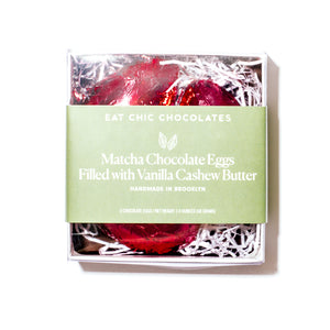 Organic Matcha Chocolate Cashew Butter Eggs