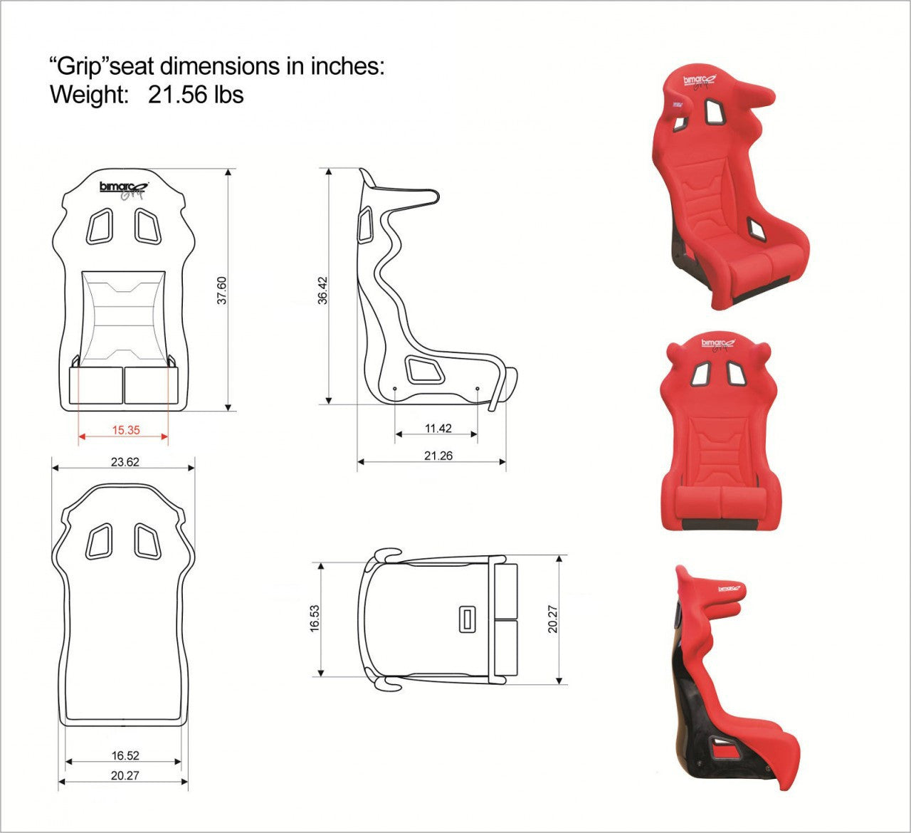 Bimarco Grip Racing Simulator Seat