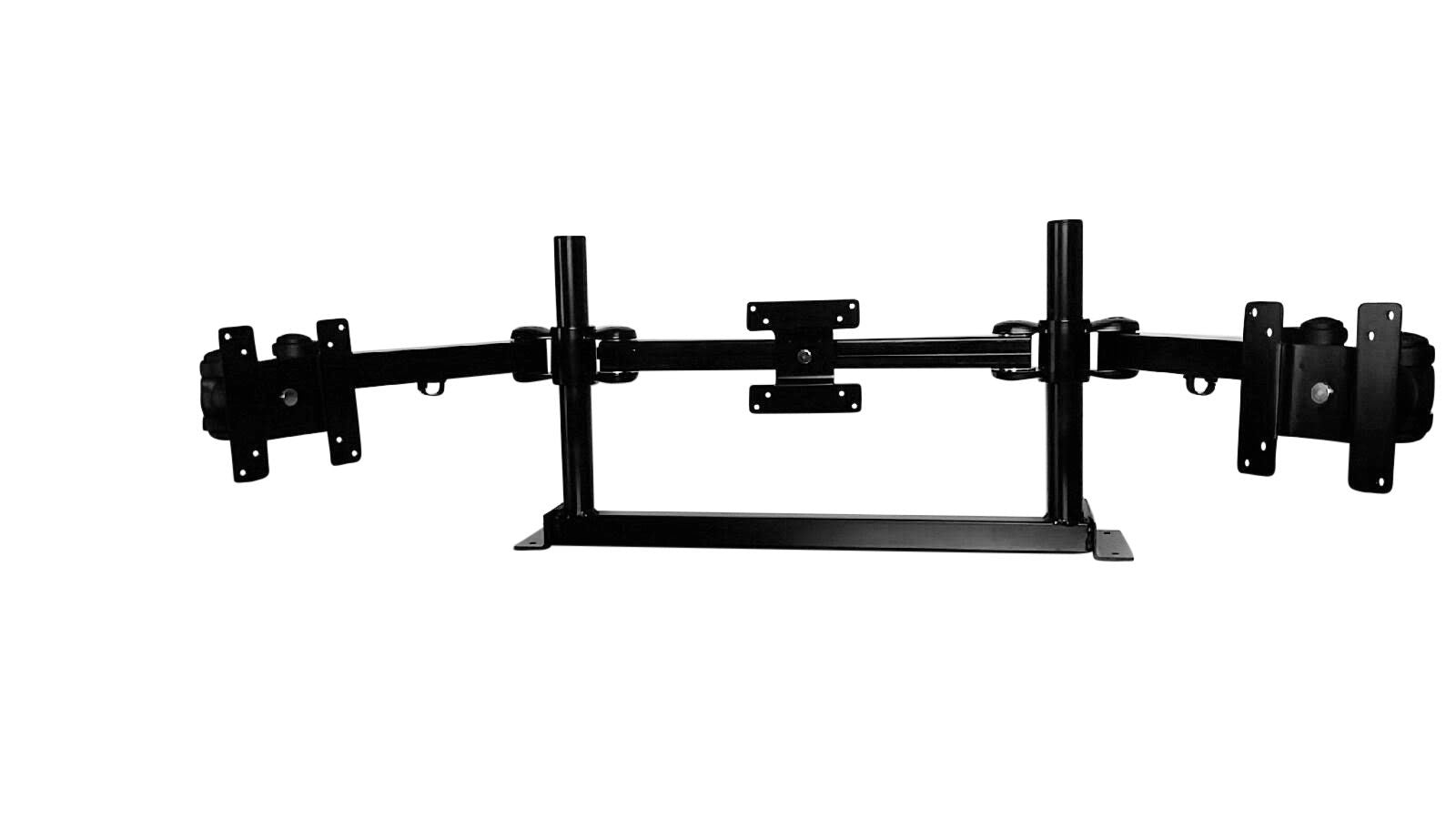 triple monitor mount