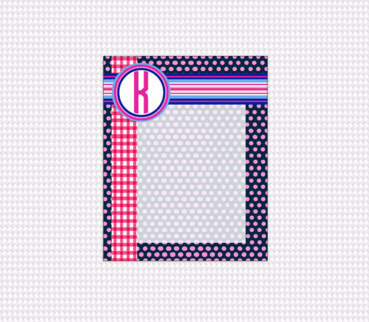 Preppy Note Pad