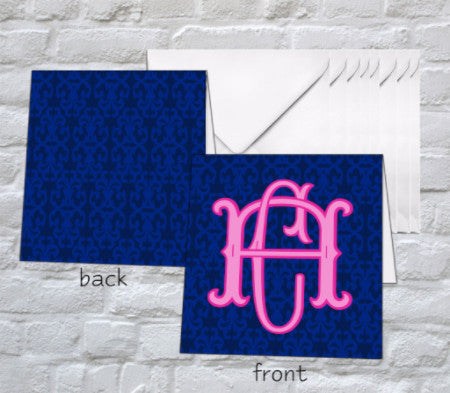 Monogram Folded Notecards