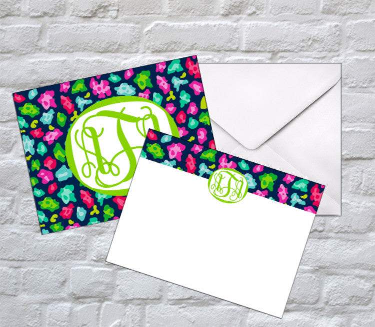Cheetah Circus Flat Notecards