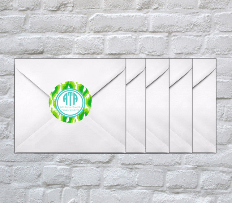 Kellikat Monogram + Address Stickers