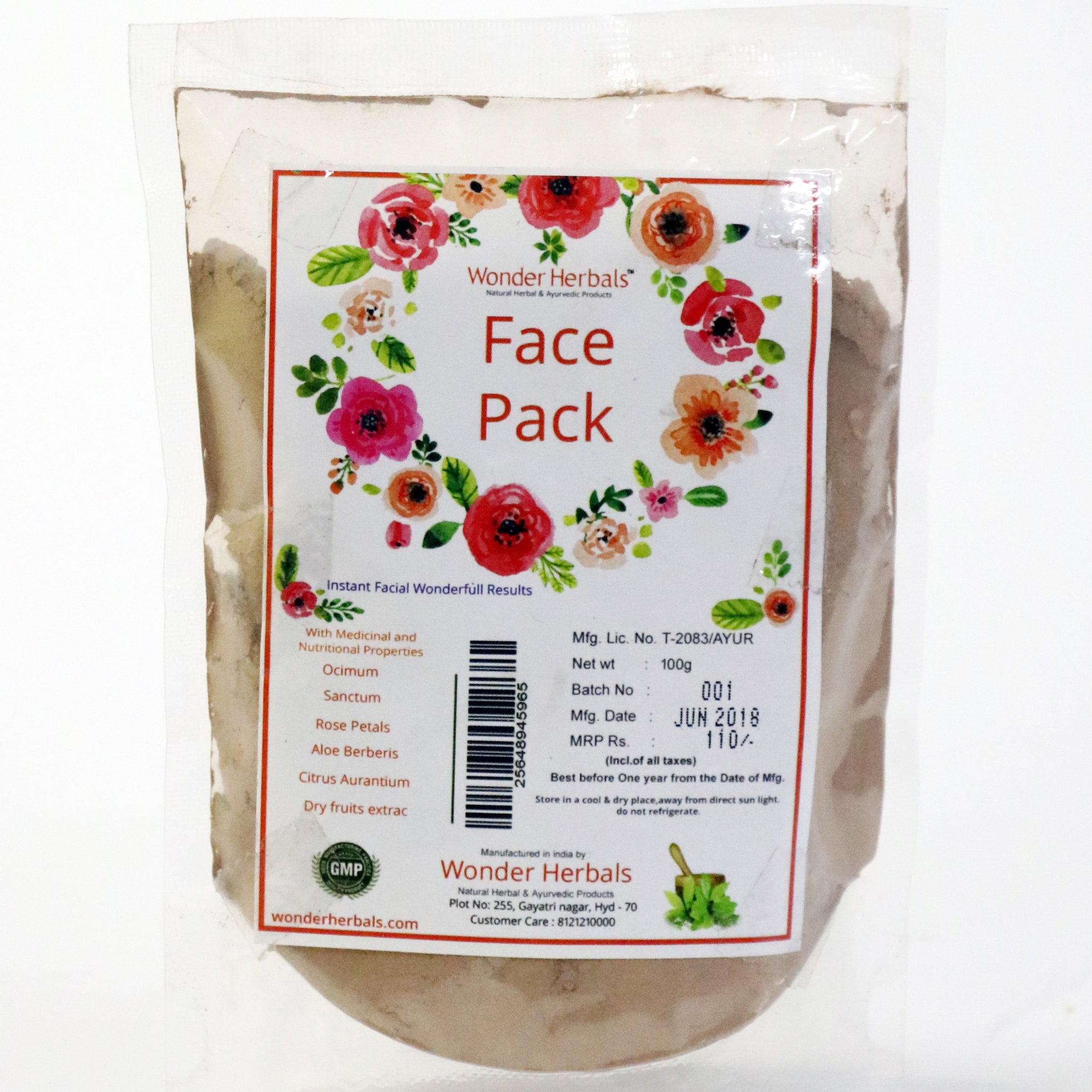 Wonder face pack - Wonder Herbals India