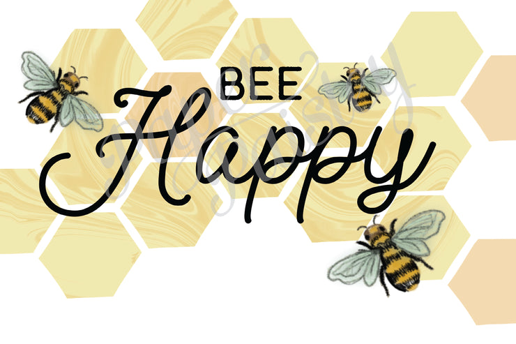 Bee Happy Care Package Sticker Kit