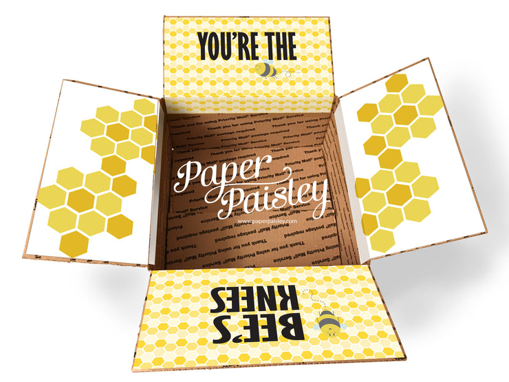 You're the Bee's Knees Care Package Sticker Kit