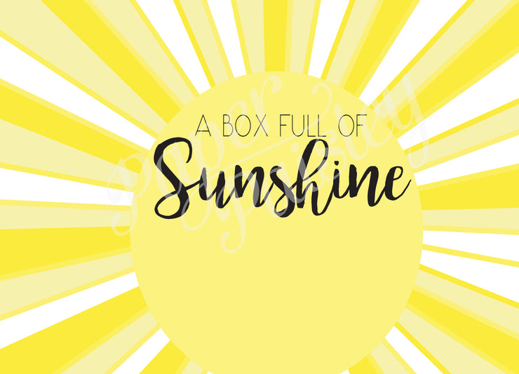 Box of Sunshine Care Package Sticker Kit