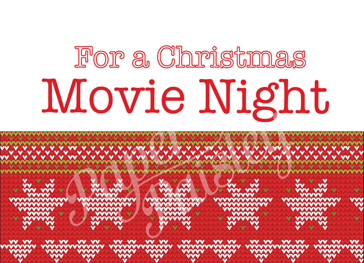 Christmas Movie Night Care Package Sticker Kit